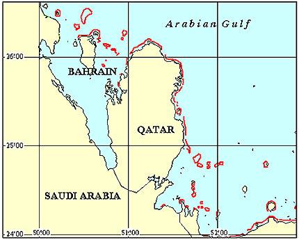 Bahrain Coral Reef Maps from Blane Peruns TheSea