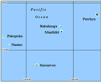 Cook Islands North Coral Reef Maps from Blane Peruns TheSea