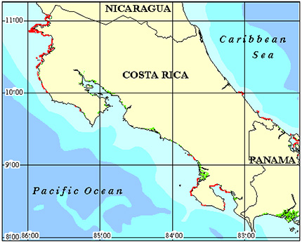 Costa Rica Coral Reef Maps and more about reef maps