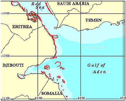 Djibouti Coral Reef Maps from Blane Peruns TheSea