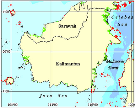 Indonesia Coral Reef Maps - At TheSea.Org