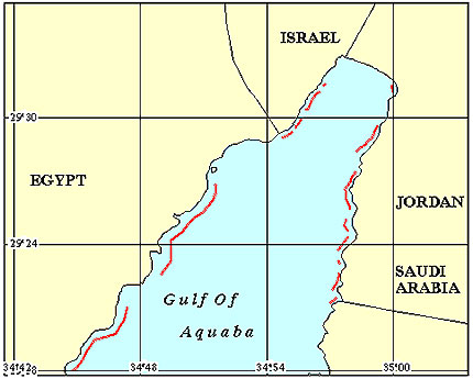 Jordan Coral Reef Maps from Blane Peruns TheSea