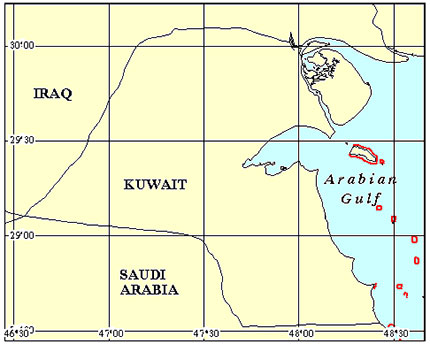 Kuwait Coral Reef Maps from Blane Peruns TheSea