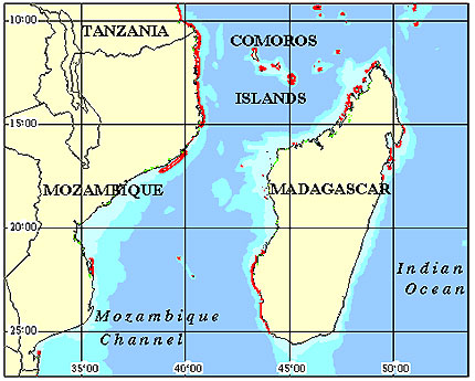 Madagascar Coral Reef Maps from Blane Peruns TheSea