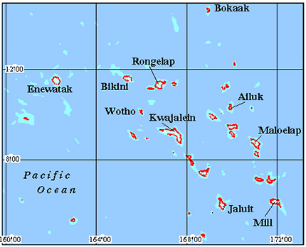 Oceania - Marshall Islands Coral Reef Maps