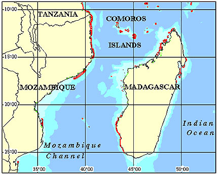 Mozambique Coral Reef Maps from Blane Peruns TheSea