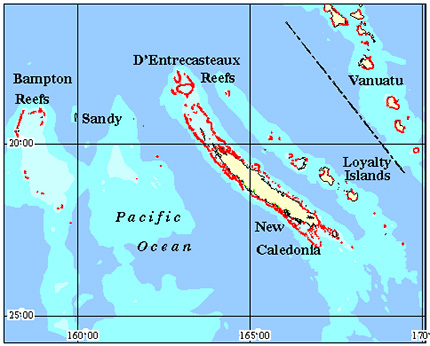 New Caledonia Coral Reef Maps Best Rated Snorkel Dive Locations