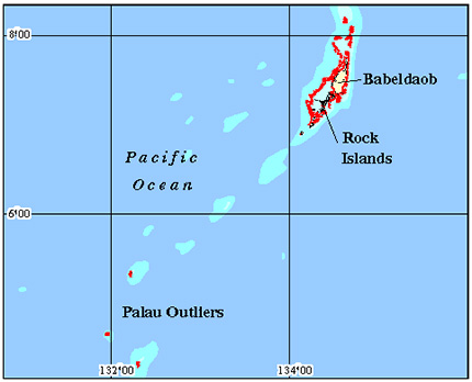 Palau Coral Reef Maps from Blane Peruns TheSea