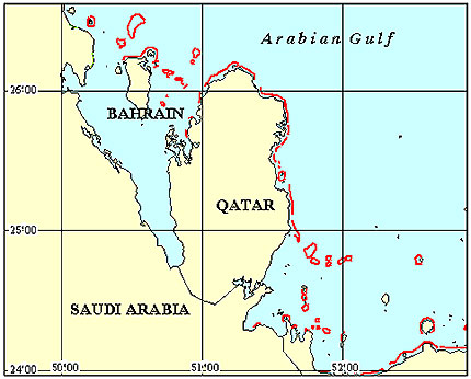 Qatar Coral Reef Maps from Blane Peruns TheSea