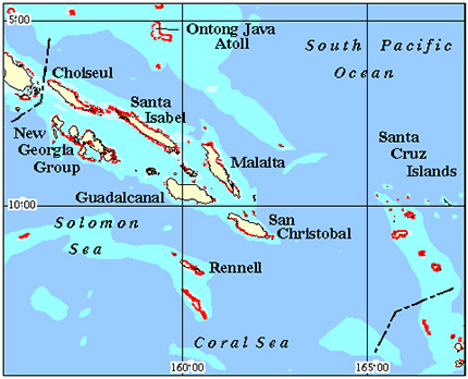 Soloman Islands Coral Reef Maps from Blane Peruns TheSea