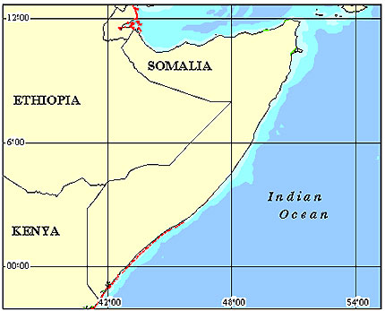 Somalia Coral Reef Maps from Blane Peruns TheSea