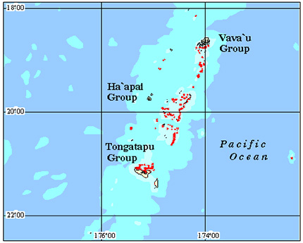 Tonga Coral Reef Maps from Blane Peruns TheSea