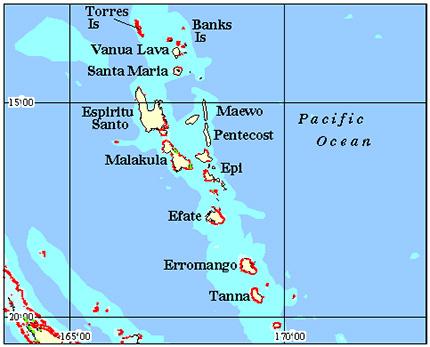 Vanuatu Coral Reef Maps from Blane Peruns TheSea