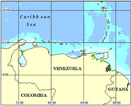 Venezuela Coral Reef Maps from Blane Peruns TheSea