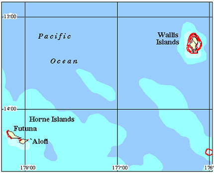 Wallis & Futuna Coral Reef Maps from Blane Peruns TheSea